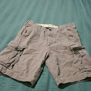 Abercrombie & Fitch men's striped cargo shorts